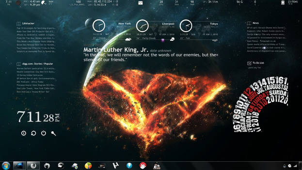 End of The World for Rainmeter