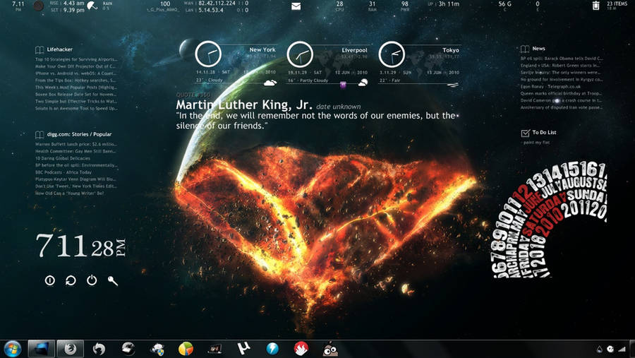 End of The World for Rainmeter by dracul91