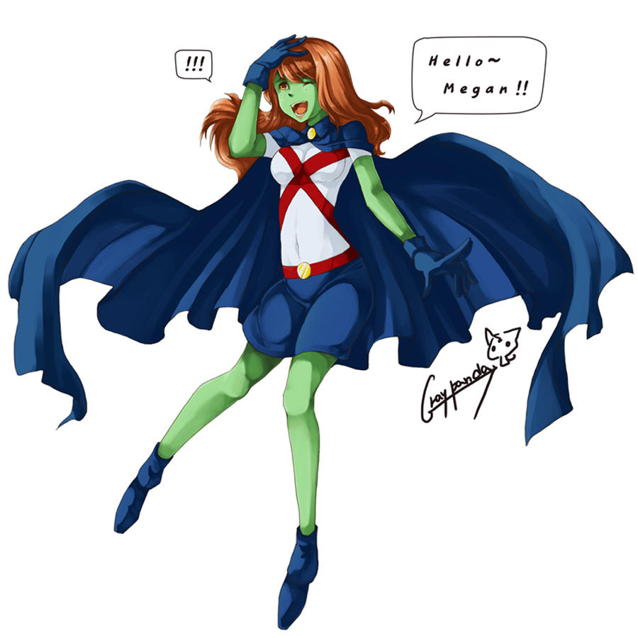 Pin Gann Miss Martian Young Justice Color Goodnight on ...