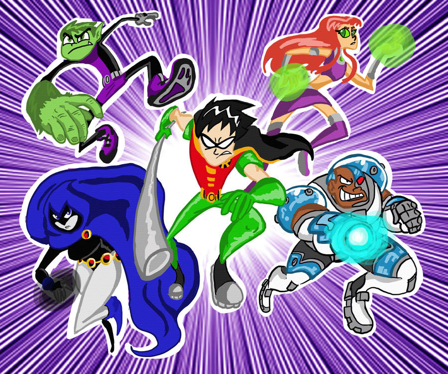 TEEN TITANS GO by TheChinesePalmTree