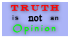 Truth and Opinion Stamp by Phillus