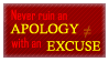 Apology and Excuse Stamp by Phillus