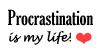 Procrastination Stamp by Phillus
