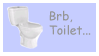 Brb Toilet Stamp by Phillus