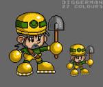 Diggerman Pixel by debureturns