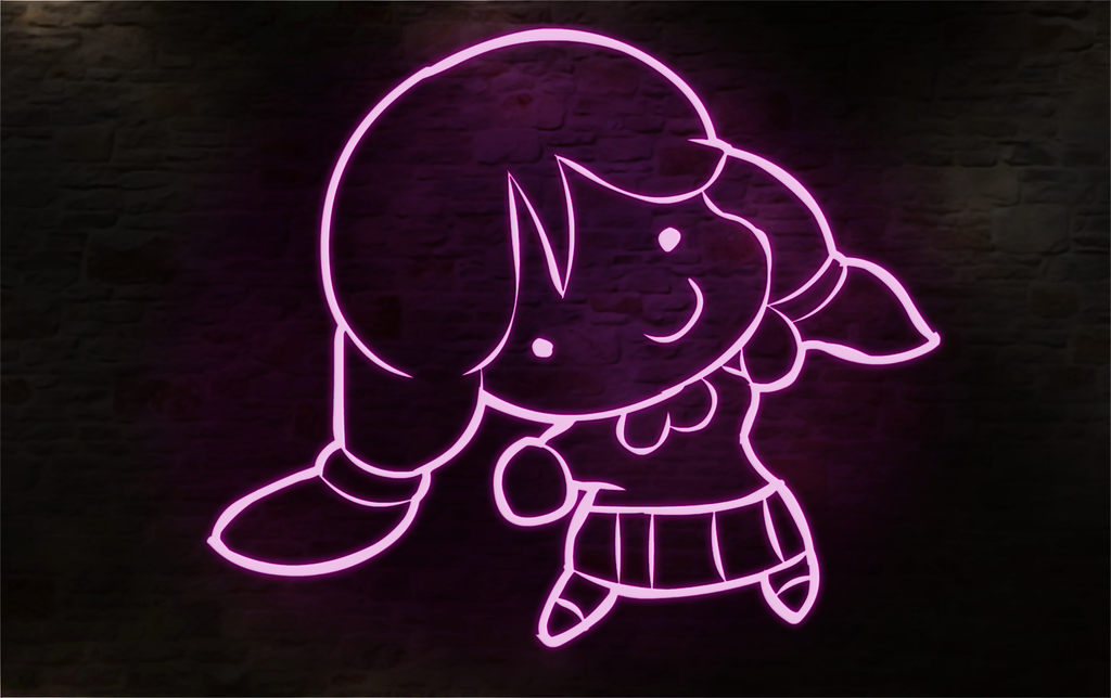 Smol Nozomi Neon all Lines by MrSneakyPhotoShop