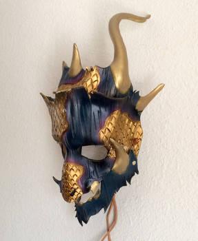 Dragon Shaman Leather mask