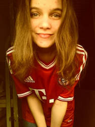 Happy with my FC Bayern jersey by WaysOfRoxanne