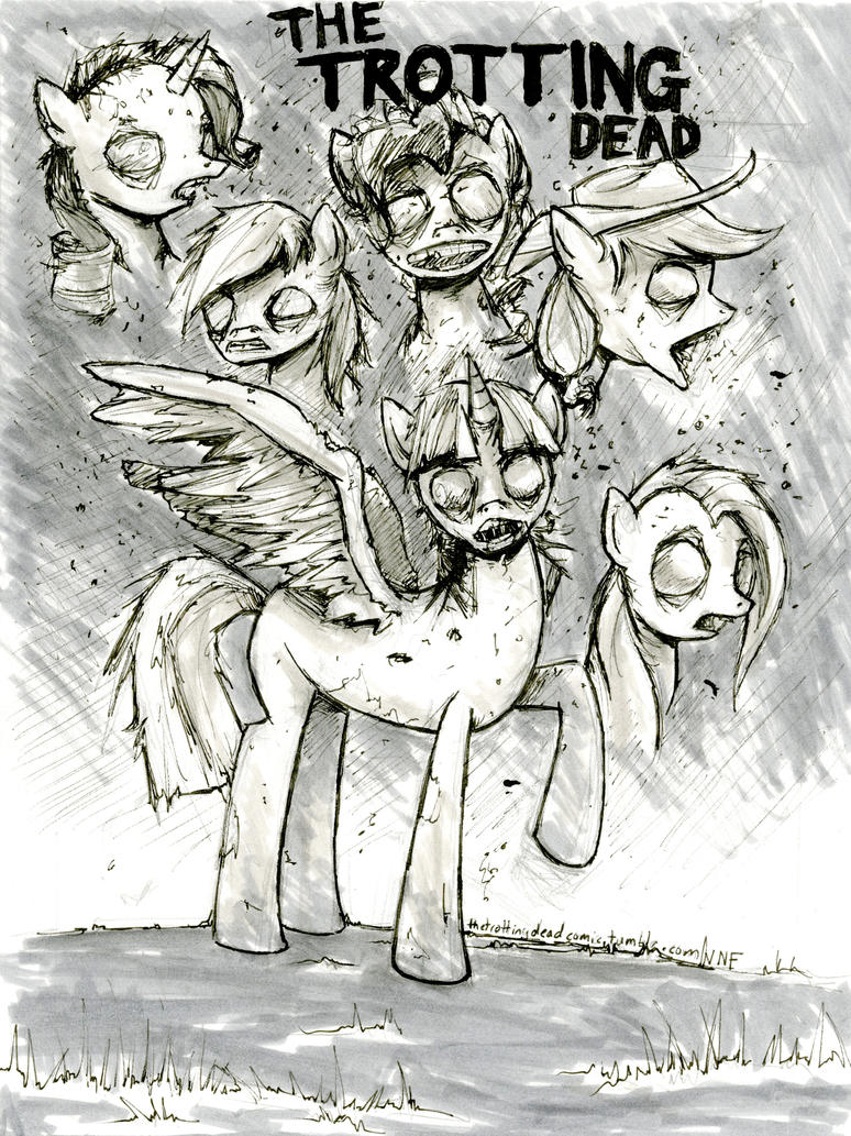 The Trotting Dead  Mane 6 by VintageNinjaFish