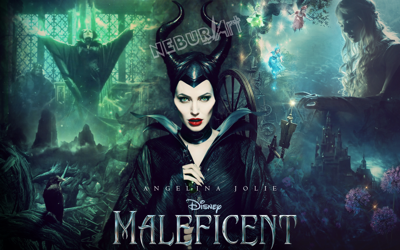 Maleficent Wallpaper English by NeburArt on DeviantArt