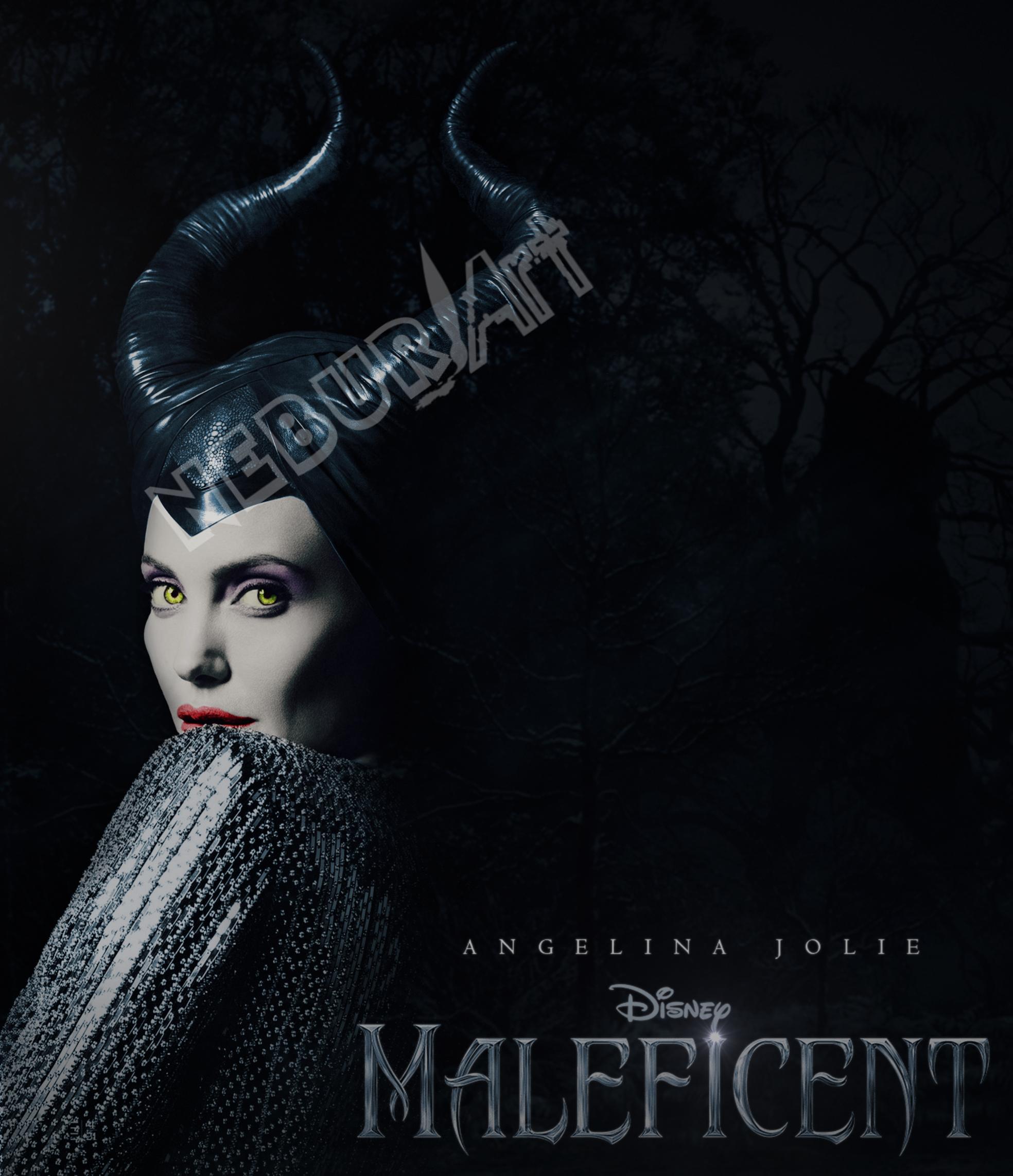 maleficent poster by neburart on deviantart