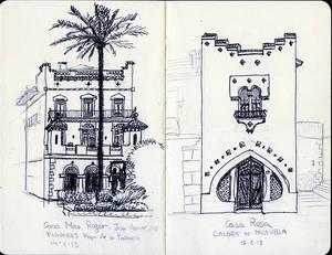 Sketch Casa Mas Roger Casa Rosa
