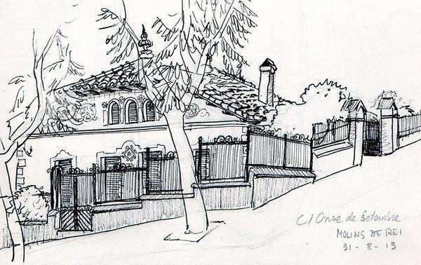 Sketch casa a molins de rei by minerva aurora on deviantart for Casas molins de rei