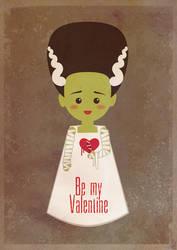 Frankestein bride, be my Valentine