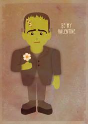 Be my valentine, frankestein