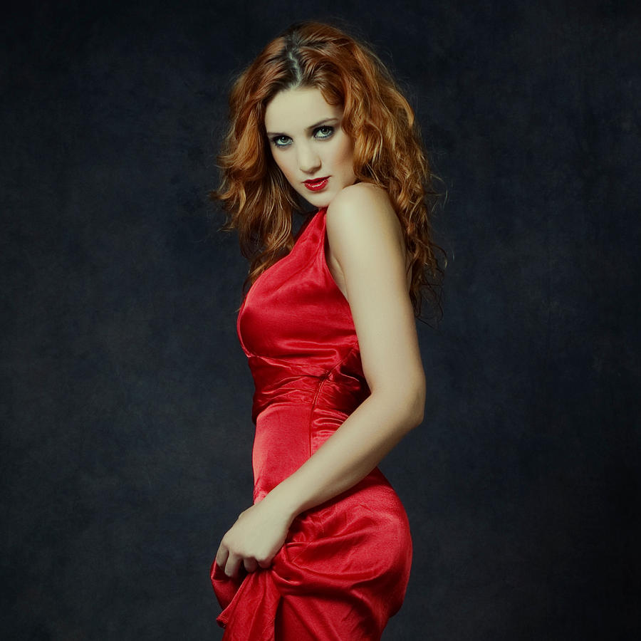 Redhead Dressed In Red by zlty-dodo