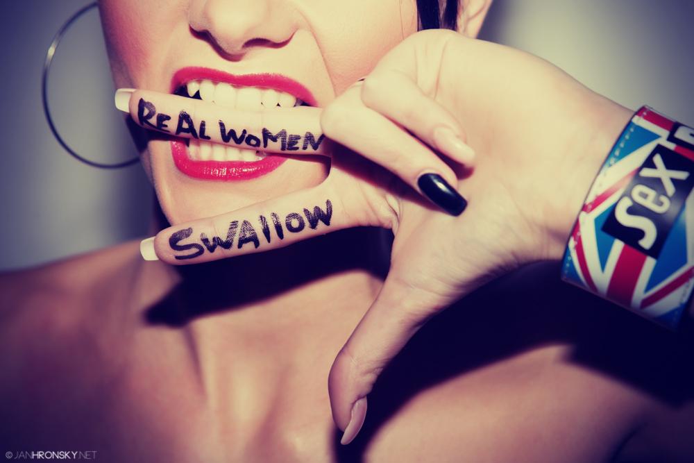 Real Women Swallow by zlty-dodo