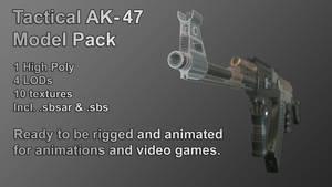 Tactical AK-47 Model Pack