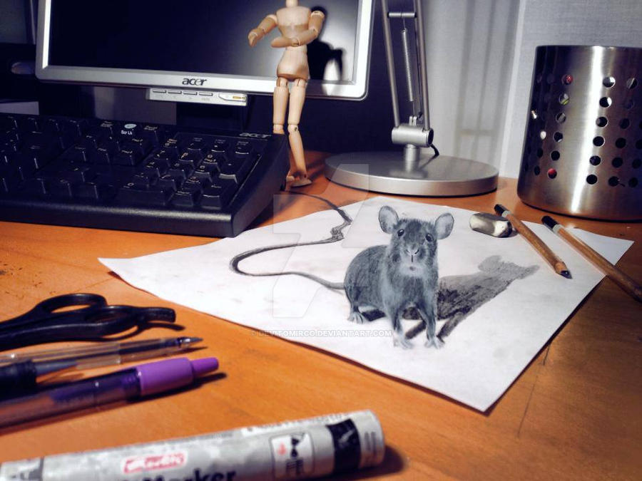 My pc has a strange mouse - Anamorphic Art by DeVitoMirco on DeviantArt