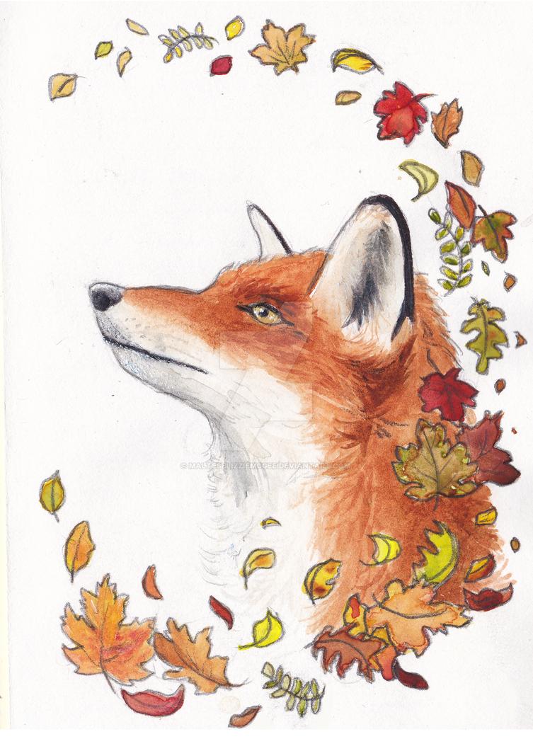 Autumn Fox by MalteseLizzieMcGee