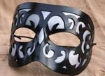 Swirl Pane Leather Mask