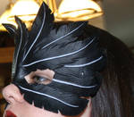 Leather Raven Feather Mask
