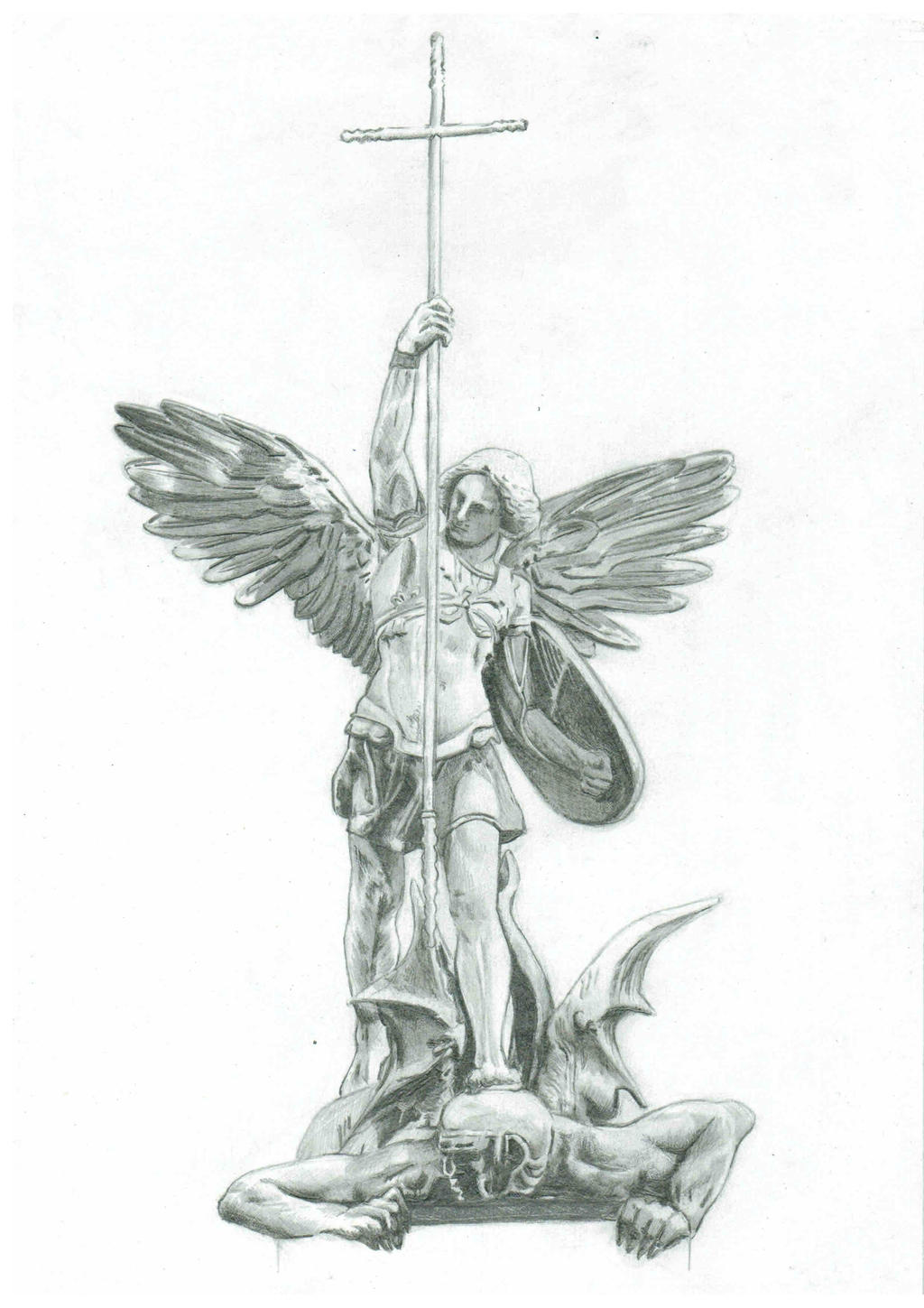 It's just a picture of Impeccable St Michael The Archangel Drawing
