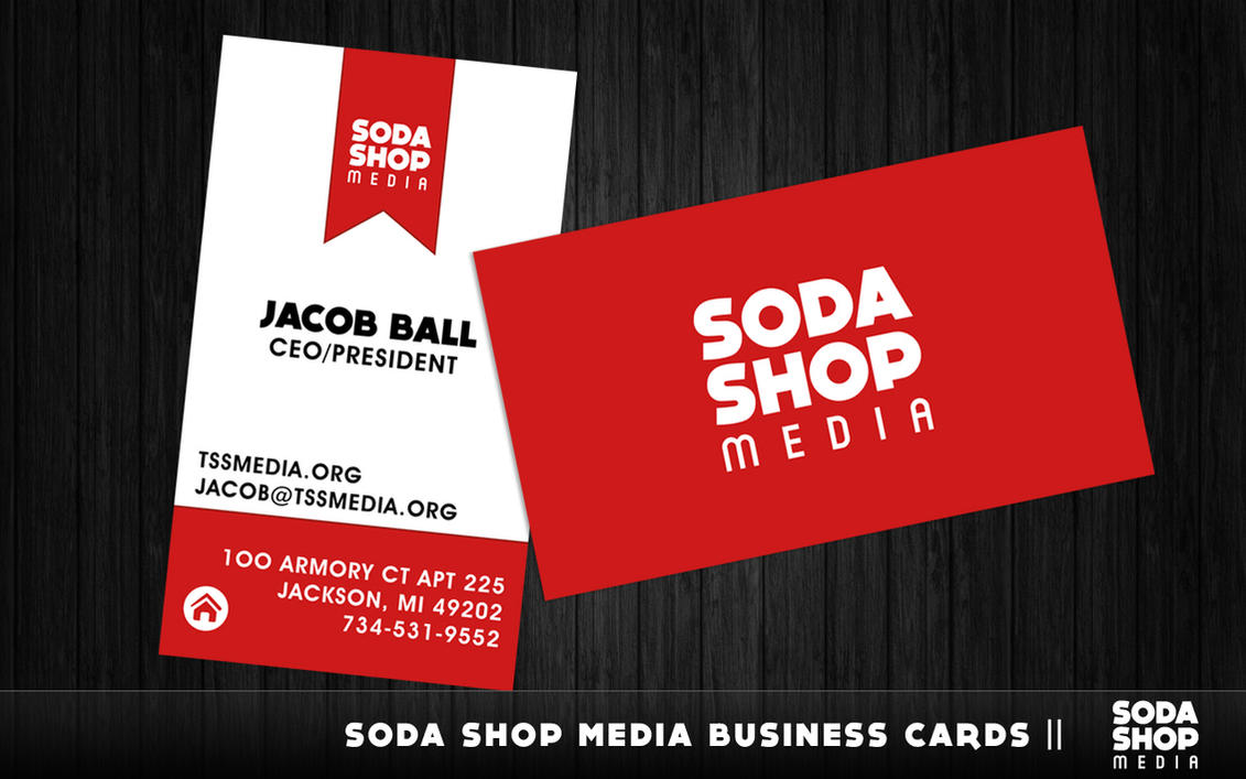 Soda Shop Media - Business Cards by cheesesoda on DeviantArt