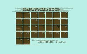 NaNoWriMo 2009 Calendar by ami-makemerun