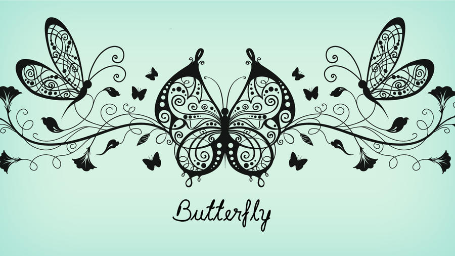 Butterfly wallpaper by AlondraPass on DeviantArt