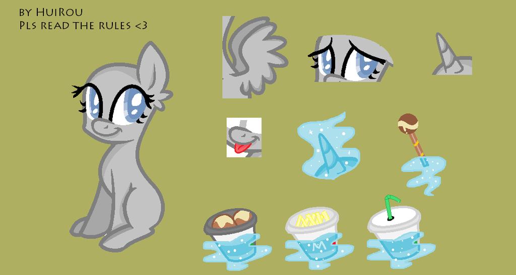 MLP the cute pony base (by HuiRou) by HuiRou