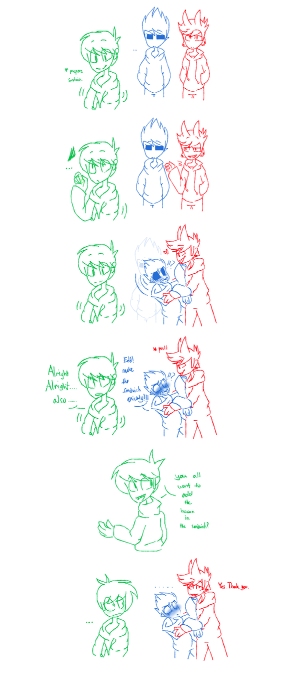 Eddsworld Tom X Tord Want Bacon By Huirou