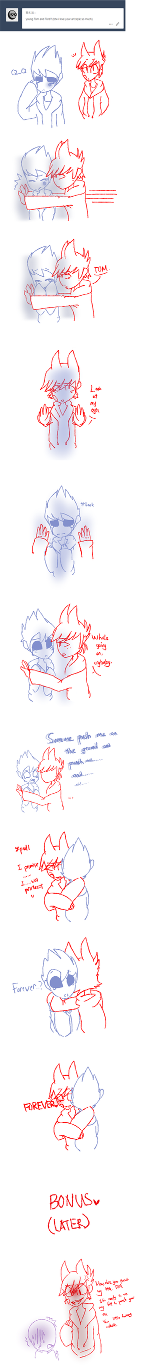 Eddsworld young tom and tord by HuiRou