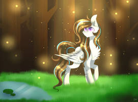 [MLPSpeedPaint] In The Forest by HuiRou
