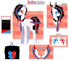 HuiRou Lazuli v.3 | MLP OC by HuiRou