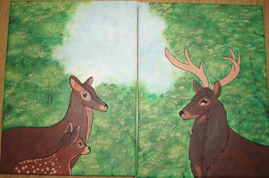 Deer family by ArtShy1