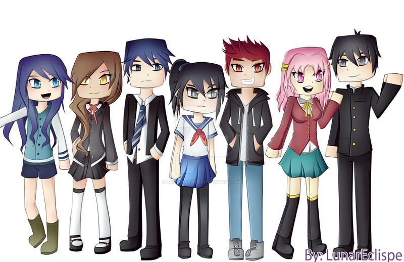 Itsfunneh Yandere High Characters By Lunareclispe On Deviantart