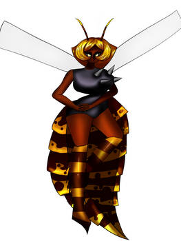 i drew a murder hornet as a waifu