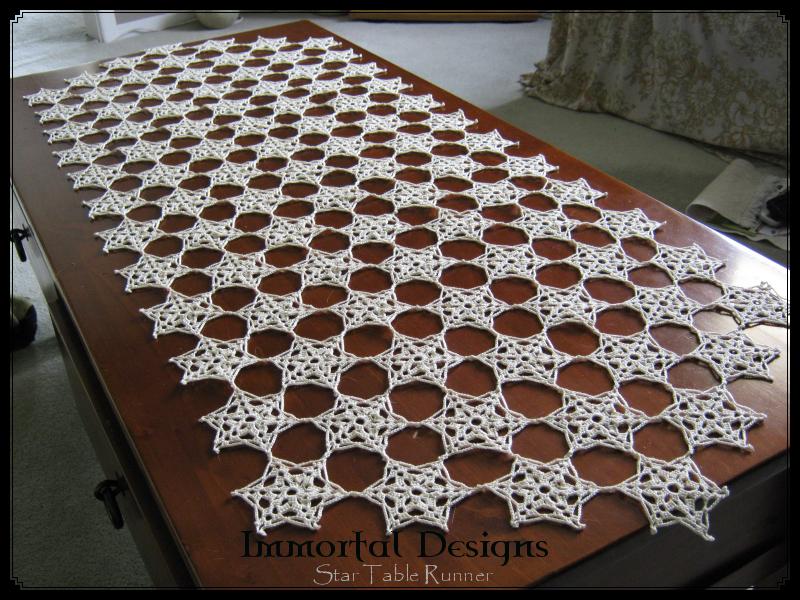 Crochet Star Table Runner by immortaldesigns on DeviantArt