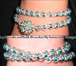 Icy barrels and ball Bracelet