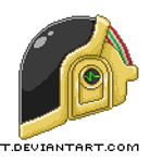 Daft Punk Guy-Man Pixel Art by sinlet