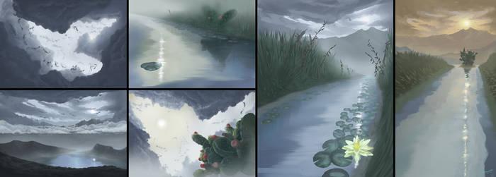 Animation Backgrounds for La Marca del Jaguar