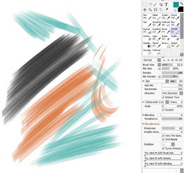 Chartpak Marker Brush for Paintool Sai by cgmodeler