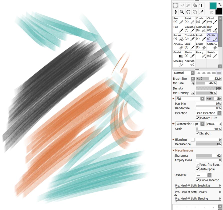 Chartpak Marker Brush for Paintool Sai by cgmodeler