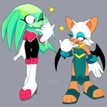 Clothes swap featuring Emerald and Rouge