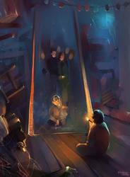 Harry and Mirror of Erised by MarinaMichkina
