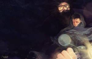 Hagrid and Harry by MarinaMichkina