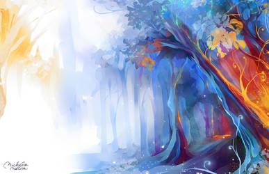 Forbidden Forest by MarinaMichkina