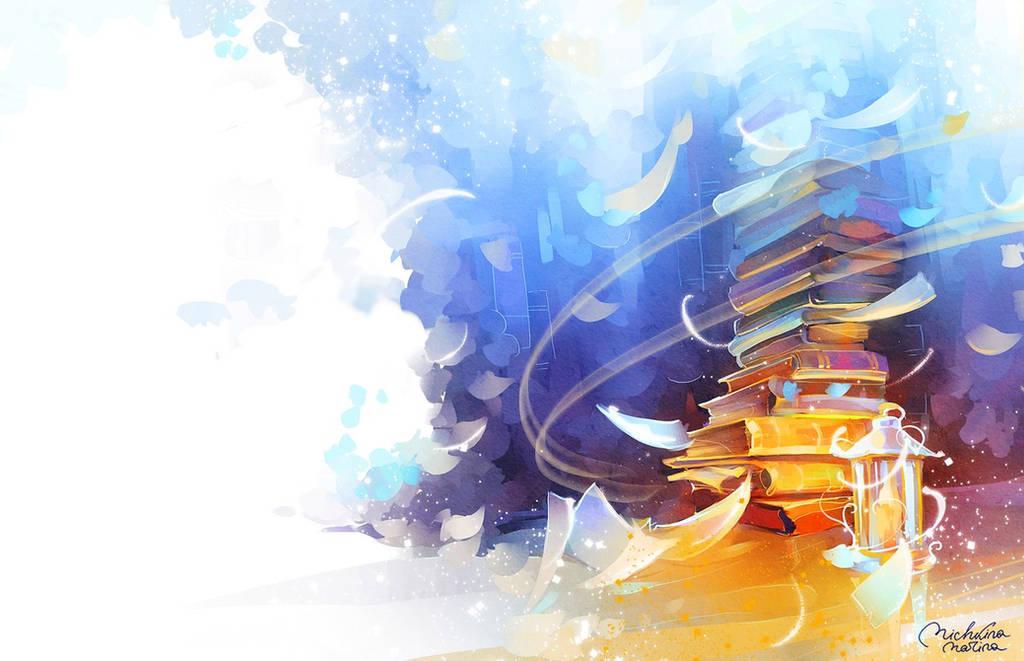 Hogwarts library by MarinaMichkina