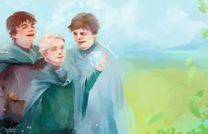 Draco with friends by MarinaMichkina